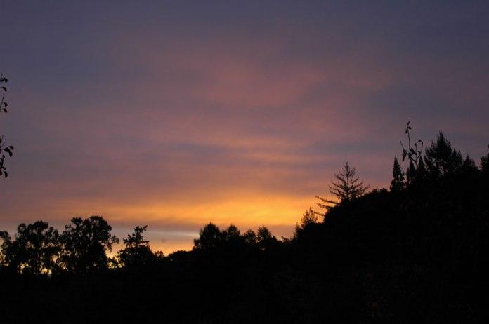 A recent sunrise at Montalvo.