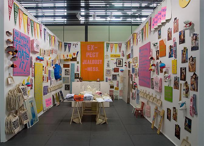 Cary Liebowitz, Art Forum Berlin, booth installation // Alexander Grey Associates, alexandergrey.com.