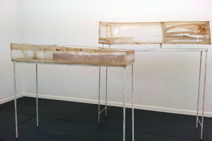 Rudolf Polanszky's vitrines of decrepitude at Ancient & Modern (London). These, on purely emotional levels, worked for me.
