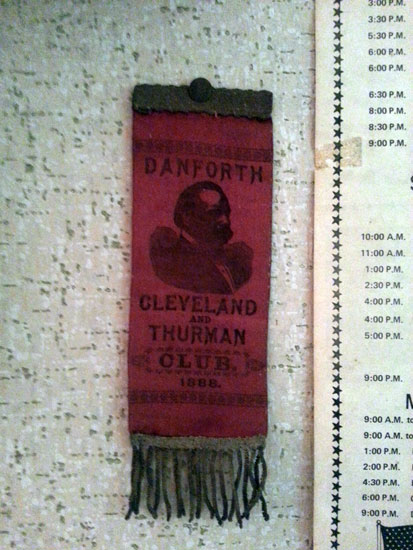 1888 campaign ribbon at Marit's.