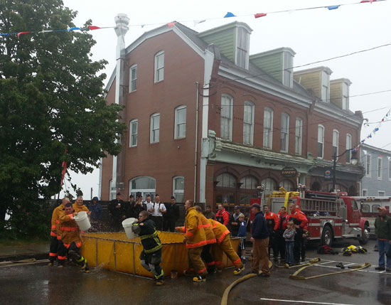 The Fireman's Muster is an annual tradition; part of Eastport's Fourth of July festivities.