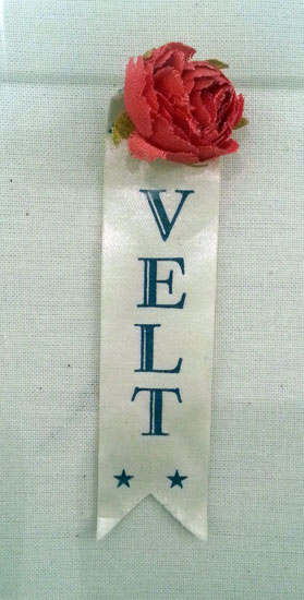 "A sweet ""rose-velt"" campaign item from FDR's Rosevelt-Campobello Park on neighboring Campobello Island in Canada."