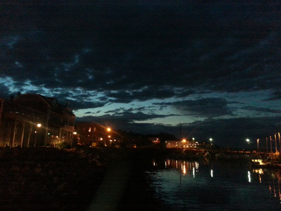 Twilight over Eastport.