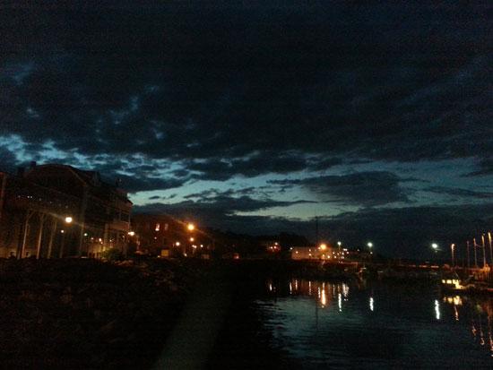 Twilight over Eastport.