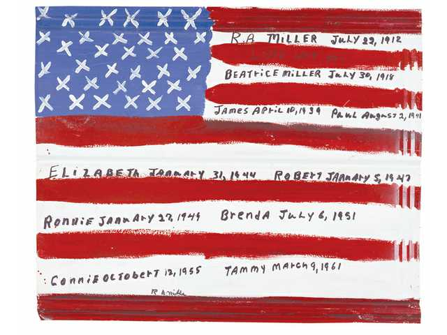 R.A. Miller, Miller Family American Flag, enamel paint on tin // Source: GainesvilleTimes.com.