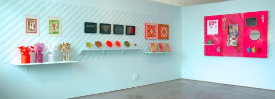 Christine Wong Yap, Irrational Exuberance (Asst. Colors), installation view at Sight School, Oakland, CA. 2010.