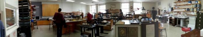 Conservation lab at the New York Academy of Medicine.