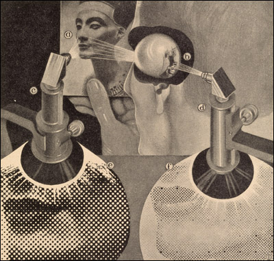 Fritz Kahn (author), Das Leben des Menschen... (The Life of Man). Vol. 5  Stuttgart, 1931. Relief halftone. // Source: National Library of Medicine.
