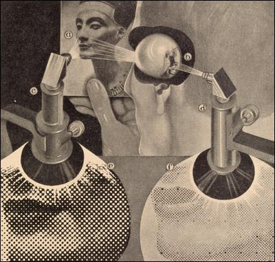 Fritz Kahn (author), Das Leben des Menschen... (The Life of Man). Vol. 5  Stuttgart, 1931. Relief halftone. // Source: National Library of Medicine.