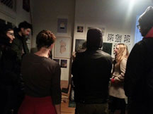 Bronx AIM informal studio visits. Visiting photographer Martyna Szczesna's studio.