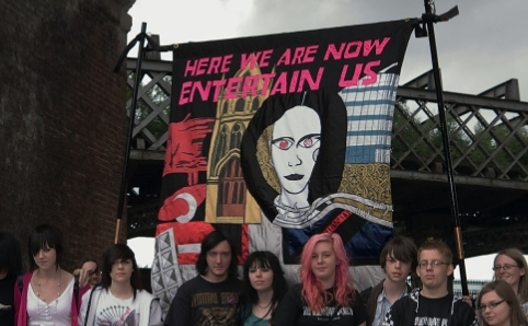 Participants. Jeremy Deller, Ed Hall (Banner Maker), Procession, 2009