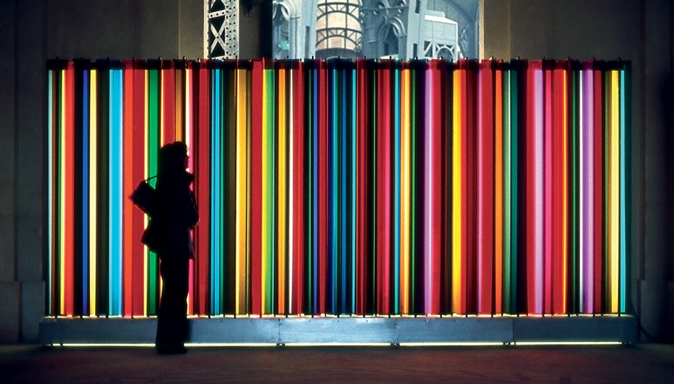 Carlos Cruz-Diez, Transchromie Mécanique 1965, 1965 // Source: cruz-diez.com