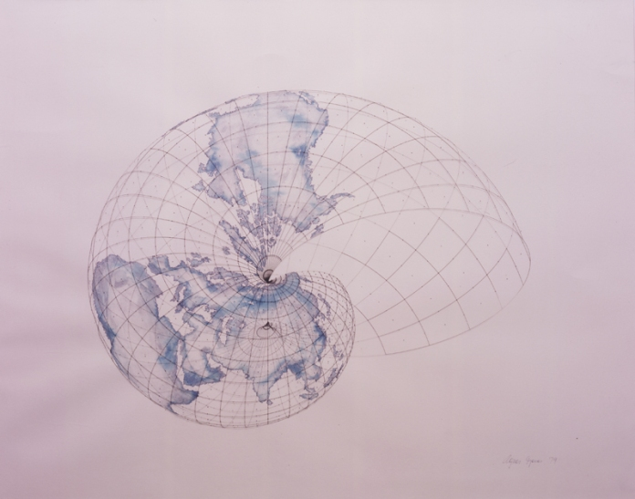 Agnes Denes, Isometric Systems in Isotropic Space—Map Projections, 1979 // Source:  students.concordiashanghai.org