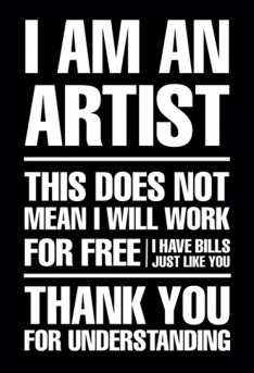Michele Bock // Source: arts.berkeley.edu. I am an artist.  This does not mean I will work for free.  I have bills just like you do.  Thank you for understanding.