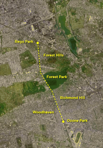 Map of the Proposed Queens Way. // Source: TheQueensWay.org.