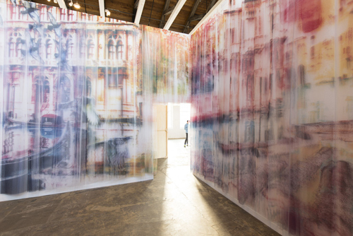Izhar Patkin: The Wandering Veil, 2013, installation view, Mass MoCA. // Source: MassMoCA.org