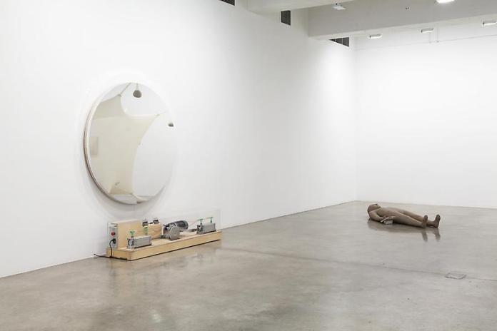 The Bigger Picture (installation view). Left: Olafur Eliasson. Right: Mark Manders. // Source:  TanyaBonakdarGallery.com.