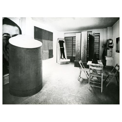Michelangelo Pistoletto, Minus Objects (1965-66, Turin): studio-based public exhibition (including some of my favorite artworks by MP) // Source: pistoletto.it // Photo: P. Bressano.