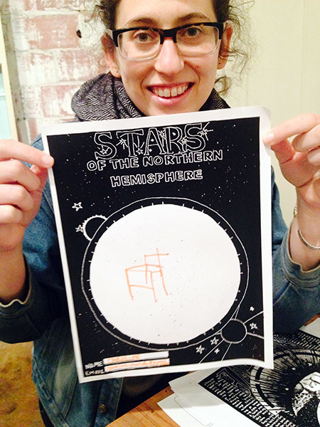 Caroline Charuk with her Chair Constellation.
