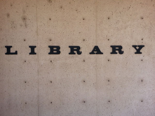 Library sign.