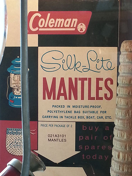 Coleman Silk Lite Mantles.