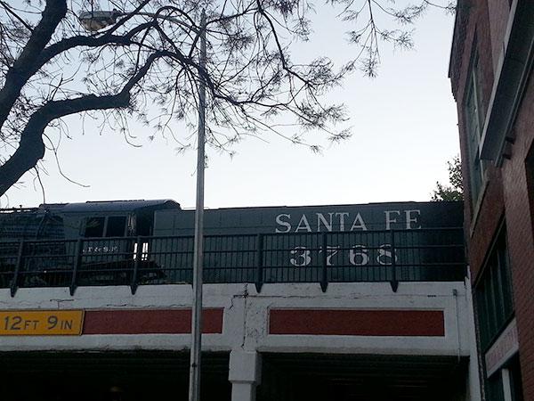 Santa Fe railroad car.