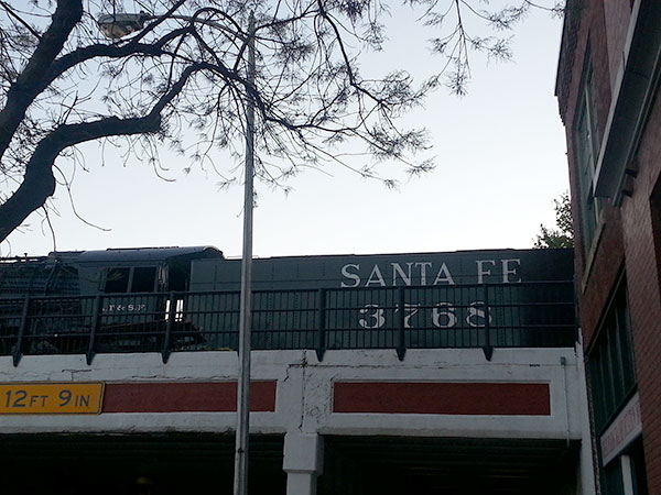 Santa Fe railroad car.