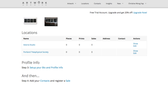 The first screen upon log-in is the Location view.