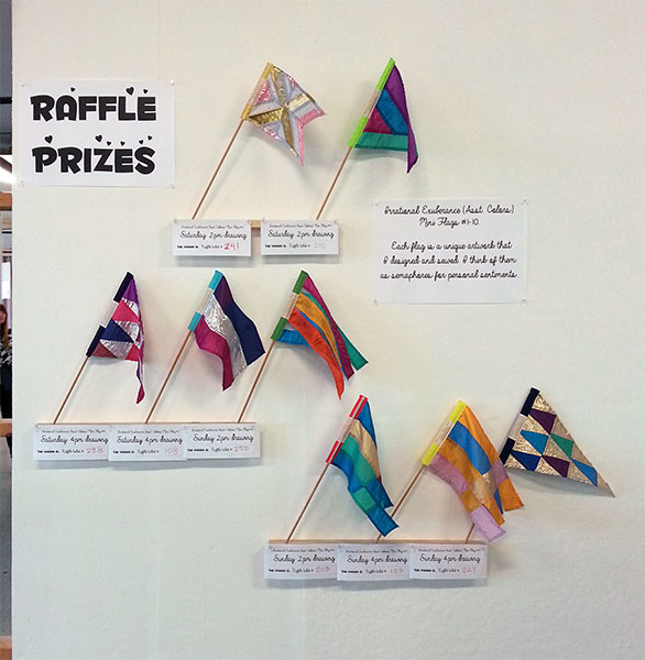 The first eight of ten prizes were raffled off during Open Studios.