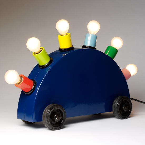 Martine Bedin (for Memphis), Super lamp prototype, 1981. Painted metal with lighting components. // Source: vam.ac.uk