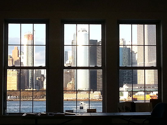 View from my studio (through poet Anselm Berrigan's studio).