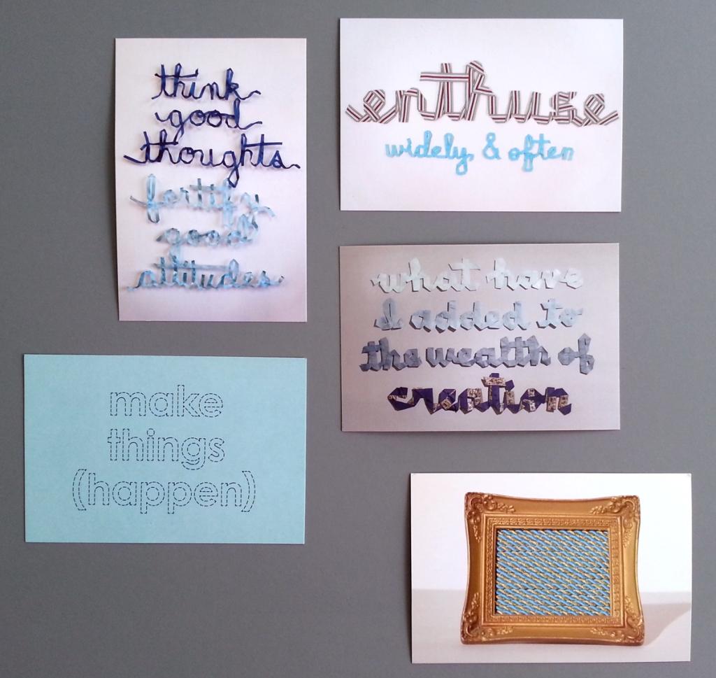 Set of Five Postcards, 4x6