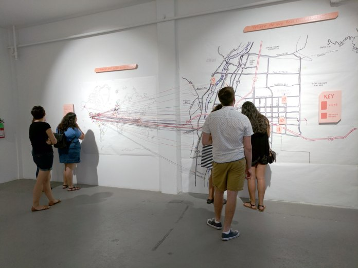 Members of the public connecting their roots and places of belonging in Albuquerque on hand-drawn maps.