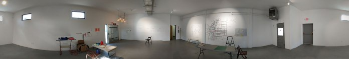 Studio 360: The STF gallery/ my AIR studio on Day Four of my residency.