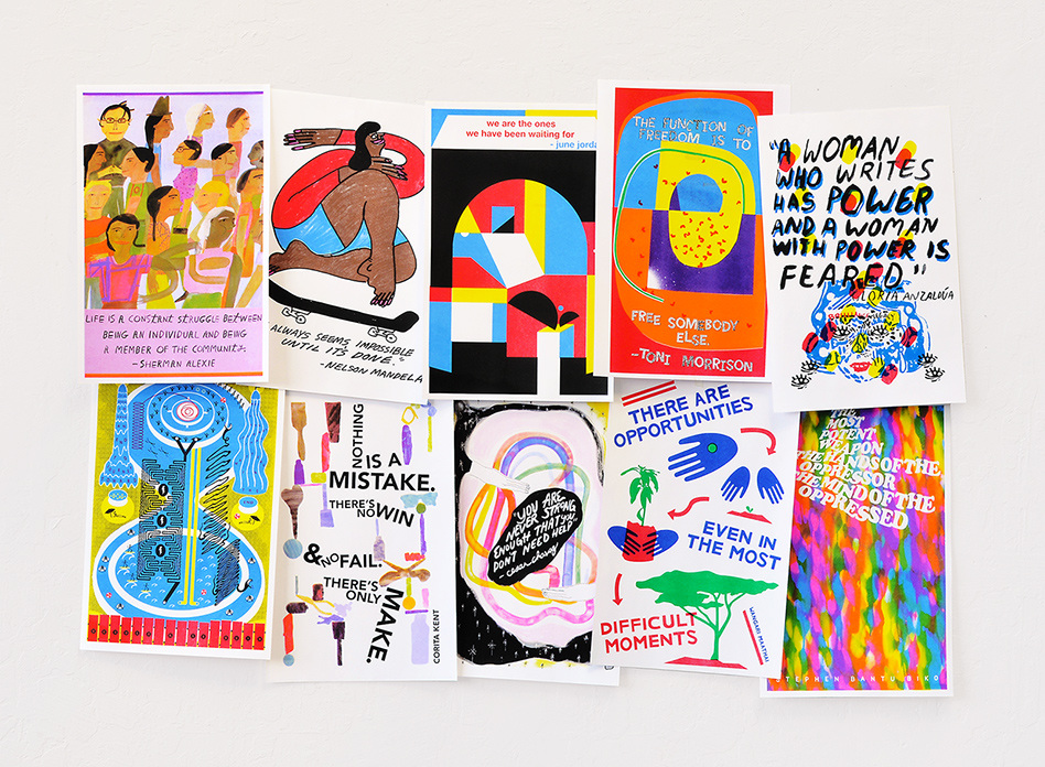 Class Set, a risograph poster project initiated by Jessalyn Aaland.