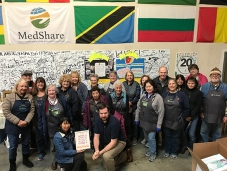 I presented certificates to commemorate 25 places of belonging. Photo of MedShare volunteers in their San Leandro warehouse: Shana Heede Hassol.