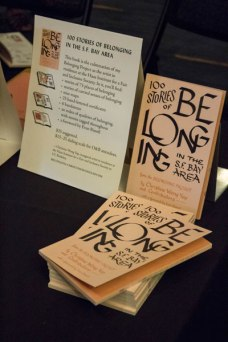 "I launched the book, ""100 Stories of Belonging in the S.F. Bay Area"" at the conference."