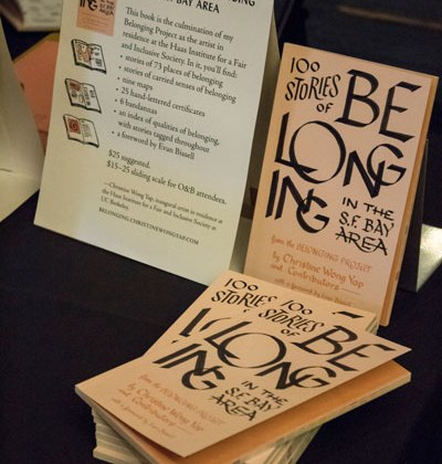 """I launched the book, """"100 Stories of Belonging in the S.F. Bay Area"""" at the conference."""