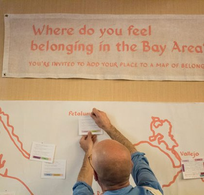 Participants were invited to pin their map markers to the map.