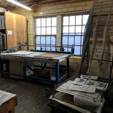 I screen-printed over 100 bandannas using their vacuum table.
