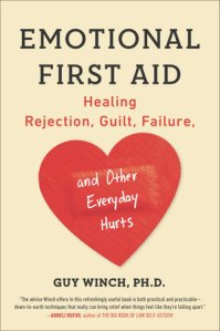 Cover of a book, with a big red heart on an ivory background. The title and author name with subtitle: